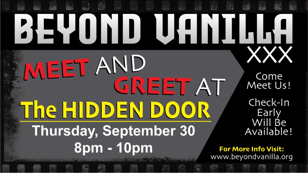 BV Meet & Greet at The Hidden Door. 9/30/21 from 8 - 10 pm
